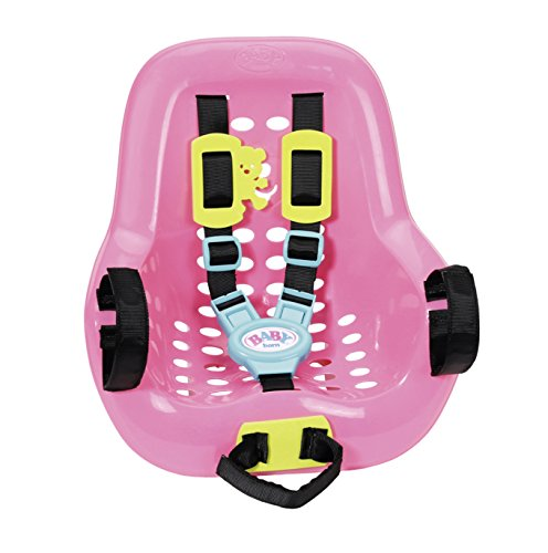 Zapf Baby Born Play&Fun Biker Seat Doll Bicycle Seat - Accesorios para muñecas (Doll Bicycle Seat, 3 año(s), Negro, Azul, Rosa, Amarillo, 43 cm, 1 Asiento(s), Chica)
