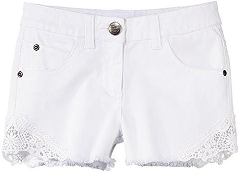 PEPPERTS® Kinder Mädchen Jeans Shorts (weiß mit Spitze, Gr.