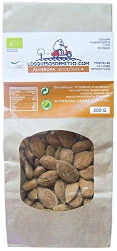 Mandel -, Sonnenblumen-samen (Losquesosdemitio Mandeln BIO ohne Salzzusätze, vier Beutel, Herkunft aus Spanien, 800 g)
