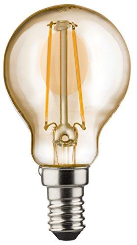 Kurven 3 Glühbirnen (MÜLLER-LICHT 400196 A+, Retro-LED Lampe Miniglobe, ersetzt, Glas, 2,2 W, E14, Gold, 4.5 x 4.5 x 7.7 cm)