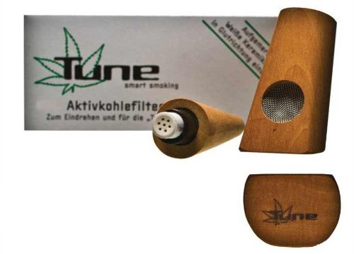 Tune Pfeife aus Birnenholz - Mehr Rauchgenuss durch Aktivkohle - 11,5 cm lang Aroma Pfeife