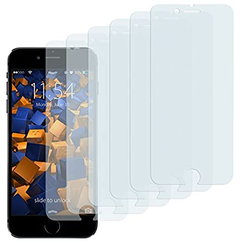 mumbi CrystalClear 3D Touch Displayschutzfolie iPhone 6 / 6s (6er Set)