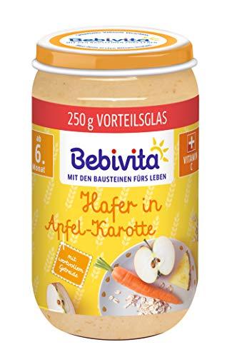 Bebivita Frucht und Getreide Hafer in Apfel-Karotte, 6er Pack (6 x 250 g)