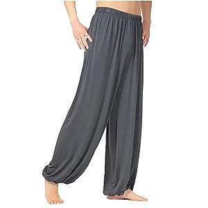 DianShao Herren Super Weiches Modal Yoga Harem Fitness Pilates Pumphose Ballonhose Aladinhose Freizeit Hosen