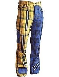 Tartan Street Style Zip Hose Blau Gelb