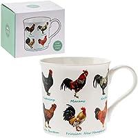 Gallo Joven Amates Multi Razas Taza de porcelana fina en una caja de regalo