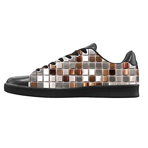 Mosaïque dalliy Verre Carrelage Texture Mens Canvas Shoes Chaussures Lace Up High Top pour Sneakers Toile Chaussures de chaussures de toile chaussures de sport D