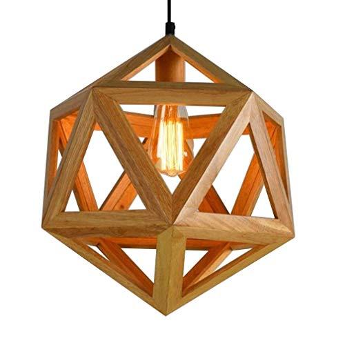 Beleuchtung Reiner Diamant (Shengdasm Chandelie E27 Nordic Massivholz Kronleuchter Wohnzimmer Schlafzimmer Restaurant Hot Pot Restaurant Bar Holz Diamant Kronleuchter (Color : F, Größe : 45cm))
