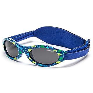 Kiddus Sonnenbrille Baby PREMIUM für Jungen. Alter 0 Monate bis 2 Jahre. MIT WEICHEM SILIKON, POLARISIERTEN GLÄSERN UND EINSTELLBARER SOFT BAND. SUPER KOMFORTABEL. 100% UV-Schutz KI30309
