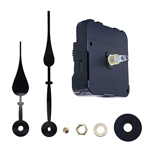 B Baosity DIY-Wanduhrwerk Kit Quarz Uhrwerk Uhr Werk Quarzuhrwerk mit Hände Motor Zubehör Ersatzteile für Wanduhr - Schwarz (Hände Uhr Und Motor-kit)