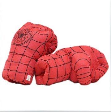 40cm Cartoon Spider Man Hände weichen Plüsch Handschuhe Cosplay Spielzeug, Ein Paar (Die Lieferzeit dauert 14 bis 18 Tage) (Kissen Paar Spiderman)