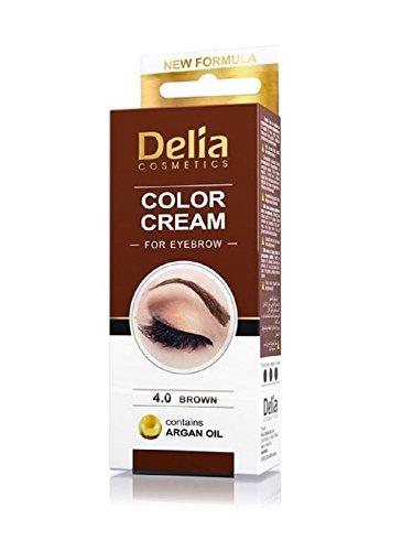 Delia colore crema per sopracciglio marrone con olio di argan - durevole colore 15ml