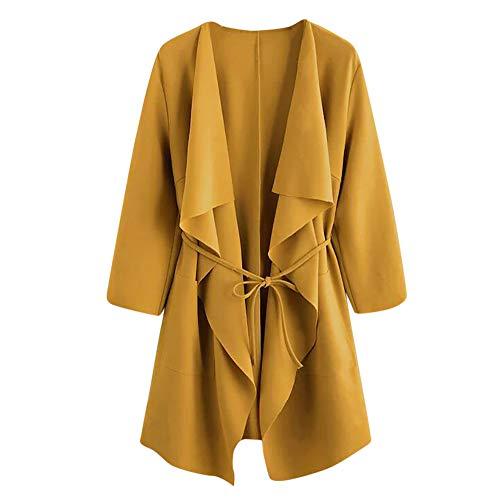 TOPKEAL Jacke Mantel Damen Herbst Winter Sweatshirt Wasserfall Kragentasche Steppjacke Front Wrap Kapuzenjacke Hoodie Pullover Outwear Coats Tops Mode 2019 Print Wrap Jacke