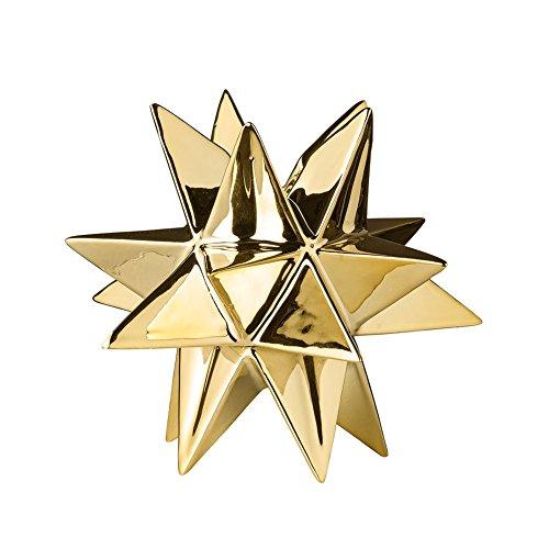 Bloomingville Kerzenhalter Sternform Hoch Gold