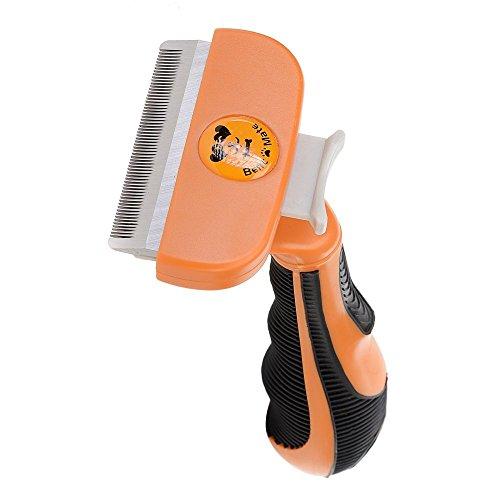 Hundebürste Pflegetrimmer Anti-Haaren deShedding Tool für Hunde, Katzen, Pferde und andere Haustiere Größe M