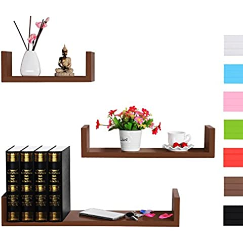 Woltu # 352estante de pared 452097–Estantería de libros CD Tarjeta Color a elegir