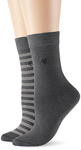 Marc O\'Polo Body & Beach SVEA Damen Socken, Grau (grau-mel. 202), 35/38 (Herstellergröße: 400)