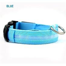 Etelux Collar de Seguridad para Perros LED Intermitente de Batería Llumina el Collar LED Para Perros Brillante Collares de Seguridad LED 3 Modo 7 Colores