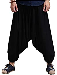Sccarlettly Pantalones Harem Negros Hippie Hip Hop Holgados Chic Casual para  Hombres Pantalones Bombachos Spring Summer 0329e2ad3f0