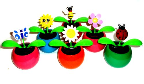 Flip-Flap Gute Laune Solarblume Wackelblume Solar Wackel Blume Geschenk Pflanzen -