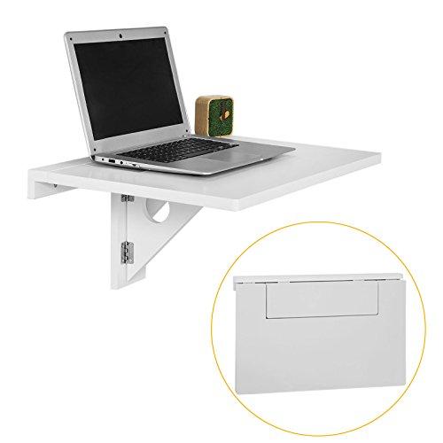 SoBuy® FWT42-W Design Wandklapptisch Wandtisch Schreibtisch Esstisch weiß, BxT ca: 60x41cm (Computer-schreibtisch Und Stuhl-set)