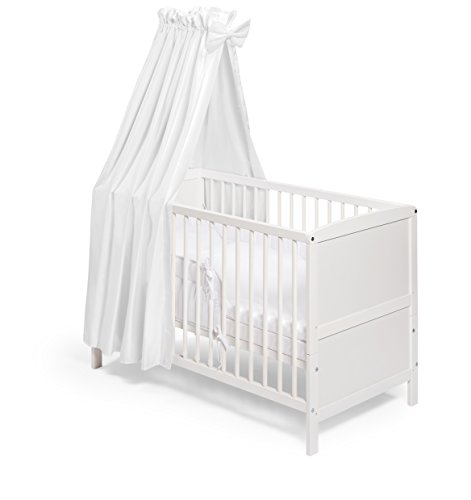 KOKO -Babybett |'NILS' | Komplett | 140x70 cm | umbaubar zum Juniorbett | Designwahl (Design:...