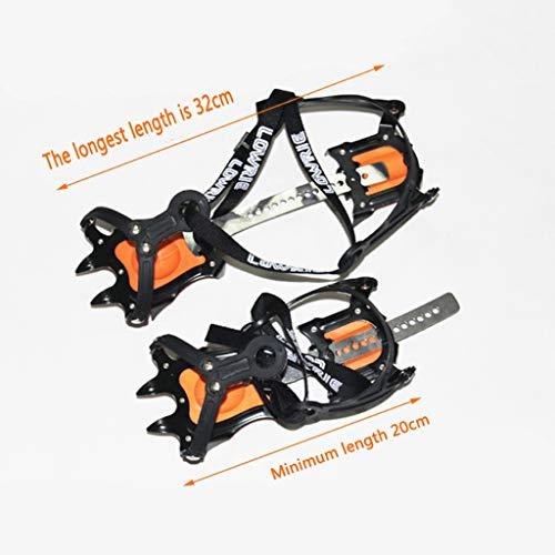 Ski equipment - crampons Racchette da 10 Denti Alpinismo Scarpe da Arrampicata su Ghiaccio Antiscivolo Set Artigli da Neve Artigli Anti-Pattinaggio Invia Borsa Esterna Oxford