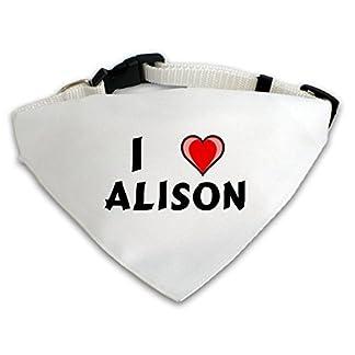 Dog Bandana with I love Alison (first name/surname/nickname) 41Kl53UfG7L