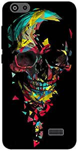 The Racoon Lean Broken Skull hard plastic printed back case / cover for Huawei Honor 4C