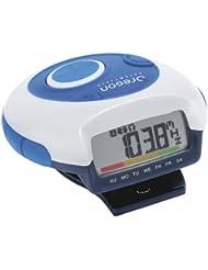 Oregon Scientific Schrittzähler mit Radio und Sprachausgabe PE 829, weiß/blau