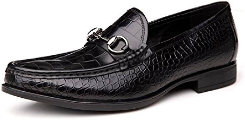 LYZGF Herren Gentleman Business Casual Fashion Fahren Faul Lederschuhe
