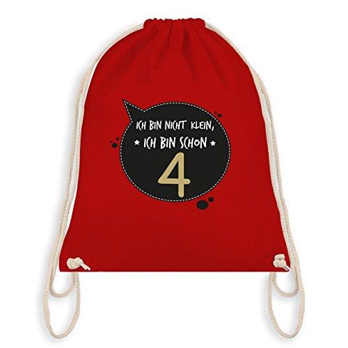 Geburtstag Kind - Ich bin nicht klein, ich bin schon 4 - Turnbeutel I Gym Bag Rot