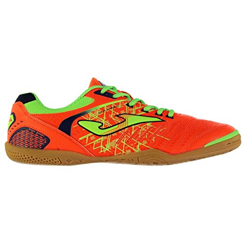 Joma Hommes Maxima Indoor Football Chaussures Baskets A Lacets Sneakers Sport FluOrange/Yello