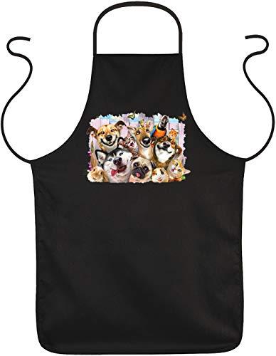 Art & Detail Shirt Kittel - Haustiere Domestic Animals Pets - Schürze mit Tier Selfie