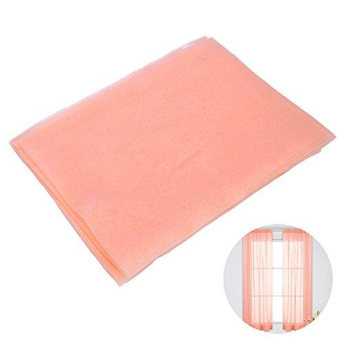 Winomo tenda voile trasparenti da finestra per casa tendaggio con stampa con passanti 100x200cm (arancione brillante)