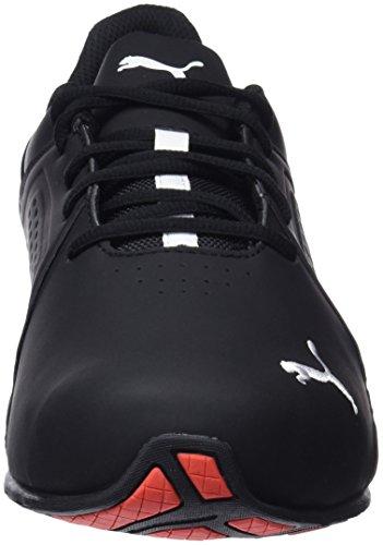 Puma Men's Viz Runner Competition Running Shoes, Black White 13 UK Img 3 Zoom
