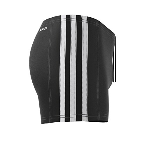 adidas Jungen Essence Core 3 Stripes Badehose Black/White