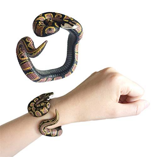 TianranRT★ Kinder Pädagogisches Spielzeug/Simulation Harz Python Tier Armband Handbemalt Pvc-Material Spielzeug, Interessante Neue Stil, Multi-Color -