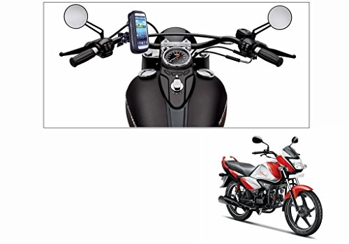 AutoStark Waterproof Bike Mobile Phone Holder Case upto 5.5 Inch Screen-Hero Splendor iSmart