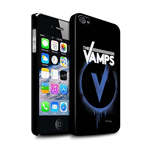 Offiziell The Vamps Hülle / Matte Snap-On Case für Apple iPhone 4/4S / Pack 6pcs Muster / The Vamps Graffiti Band Logo Kollektion Blau V