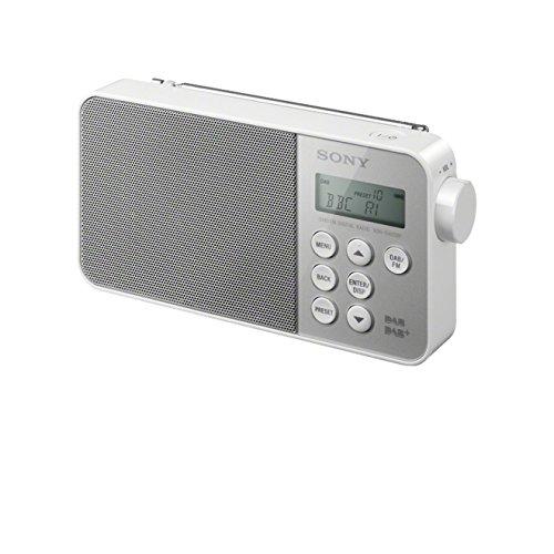 Sony XDR-S40DBP Retro-Look Digital Radio (DAB+/UKW-Tuner) weiß