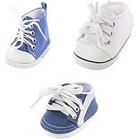 4 Paio Scarpe Alte Stringate Sneaker Moda Per Bambole Accessori Tela Gomma PbboYGiw9T