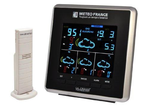 La Crosse Technology WD4025 Station météo France J+3 - Noir