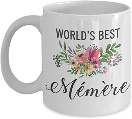 white Mug Memere Mug-Gift for French Memere Mom Mother-Funny Worlds Best Ever Thank You Birthday Mother's Day Christmas Coffee Cup Idea - French White-mug