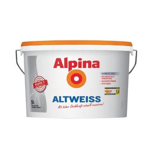 Alpina Farben Wandfarbe Innenfarbe Altweiss 5L