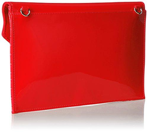 Mario Valentino Damen Nemesia Tornistertasche, 1x19x31 cm Rot (Rosso)