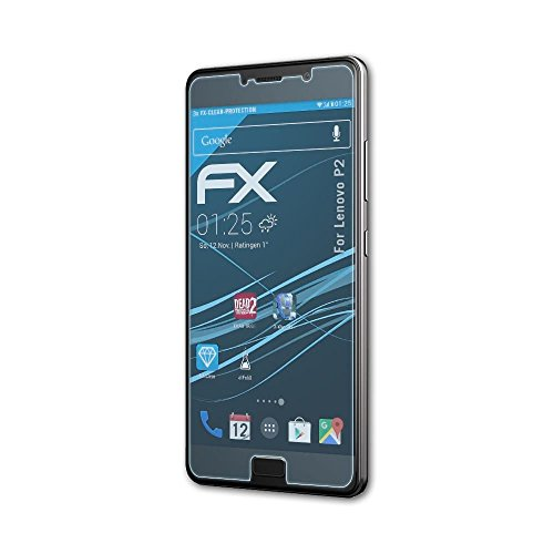 atFolix Schutzfolie kompatibel mit Lenovo P2 Folie, ultraklare FX Bildschirmschutzfolie (3X)