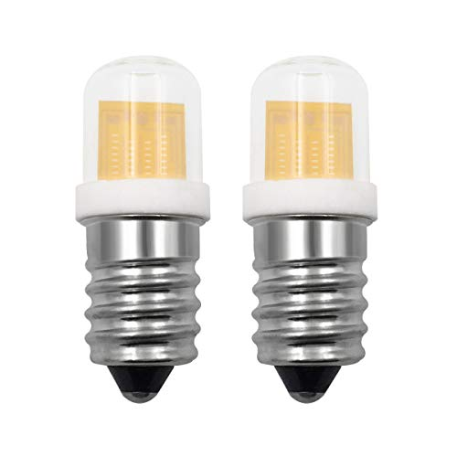 Bombilla LED pequeña E14 SES de 4 W, luz blanca cálida, reemplazo de 30 W, E14, rosca pequeña Edison, para máquina de coser, nevera, campana de gallo, paquete de 2