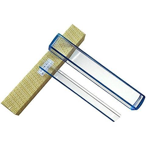 10 pulgadas 5X Lupa con la lectura de seguimiento de la línea de medición Escala azul de metal con tapa Raised Bar
