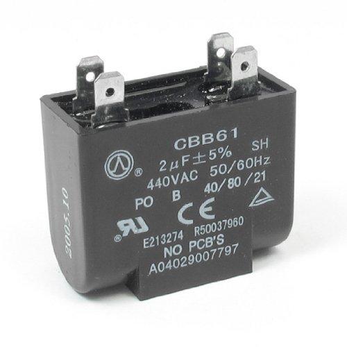 DealMux 440V 2uF 4-pin Rechteck Klimaanlagen-Ventilator Motor Capacitor -